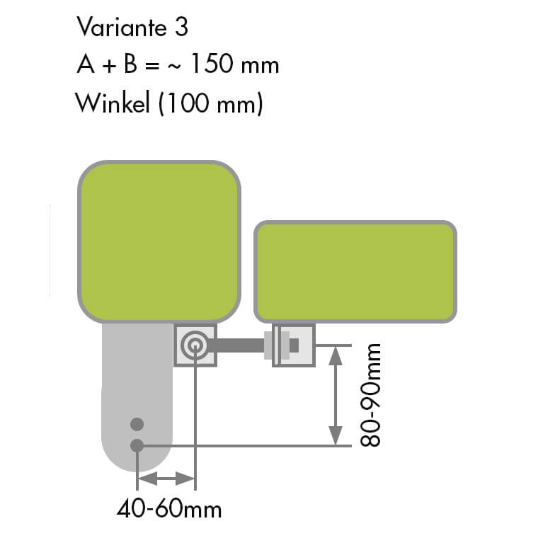 Gartentor Anschlag Variante 3